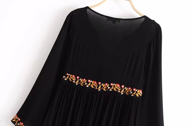 Cotton Fashiondress(Black-L) NHAM2495-Black-L