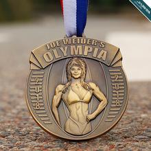 铜质冲压健美奖章 铜制高浮雕奖牌订做 人物神像奖牌订制加工