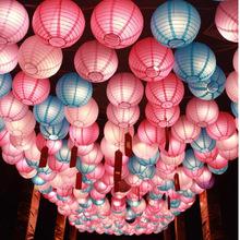 圆形户外纸灯笼串灯笼灯笼装饰灯笼摄影婚房装饰灯笼中秋元宵花灯
