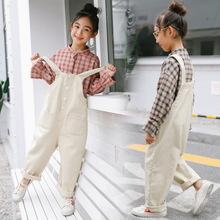 童装女童秋装2019新款儿童背带裤套装大童洋气时髦韩版潮衣两件套