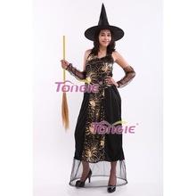 新款万圣节鬼节女装 红色蜘蛛女巫裙帽套装 专业加工生产12HW115