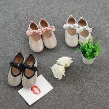 童鞋新品 春秋蝴蝶结可爱女童公主鞋时尚儿童休闲鞋一件代发