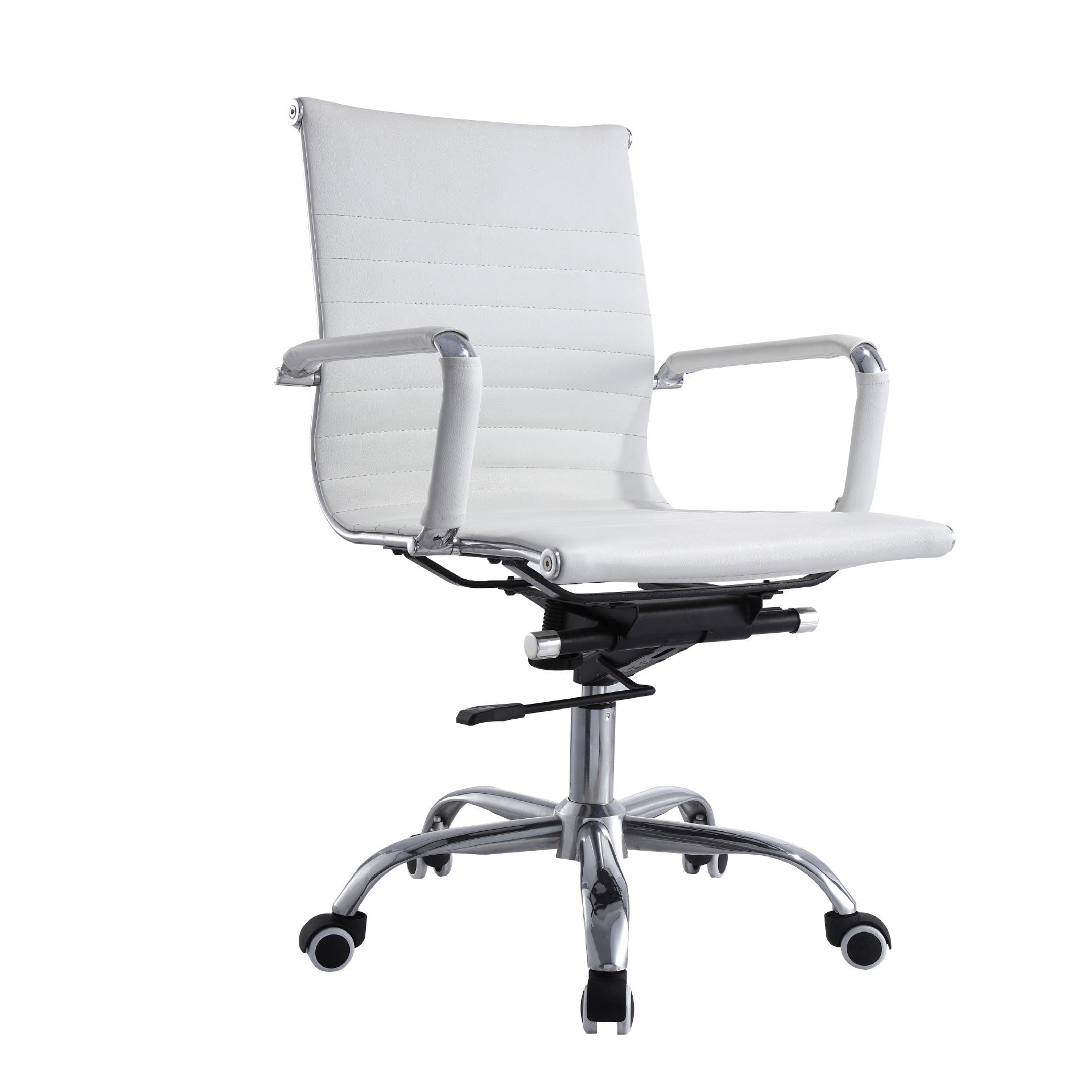 佳皓网椅厂家直销办公家具金属电镀钢架优质西皮车线纹路中班转椅