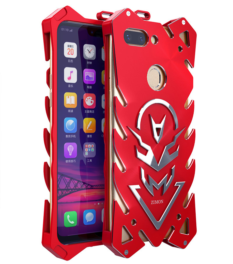 SIMON New THOR II Aviation Aluminum Alloy Shockproof Armor Metal Case Cover for OPPO R15 & OPPO R15 Dream Mirror Edition