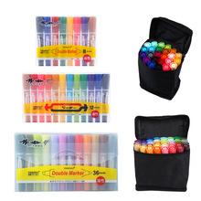 大頭筆可加墨水油性記號筆 彩色雙頭馬克筆套裝 學生用pop海報筆