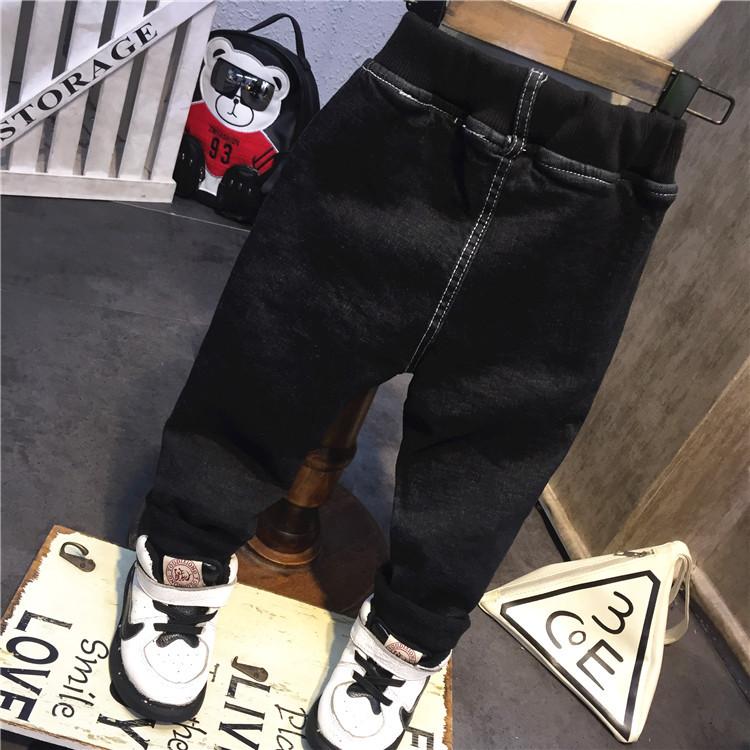 男宝宝加绒加厚牛仔裤