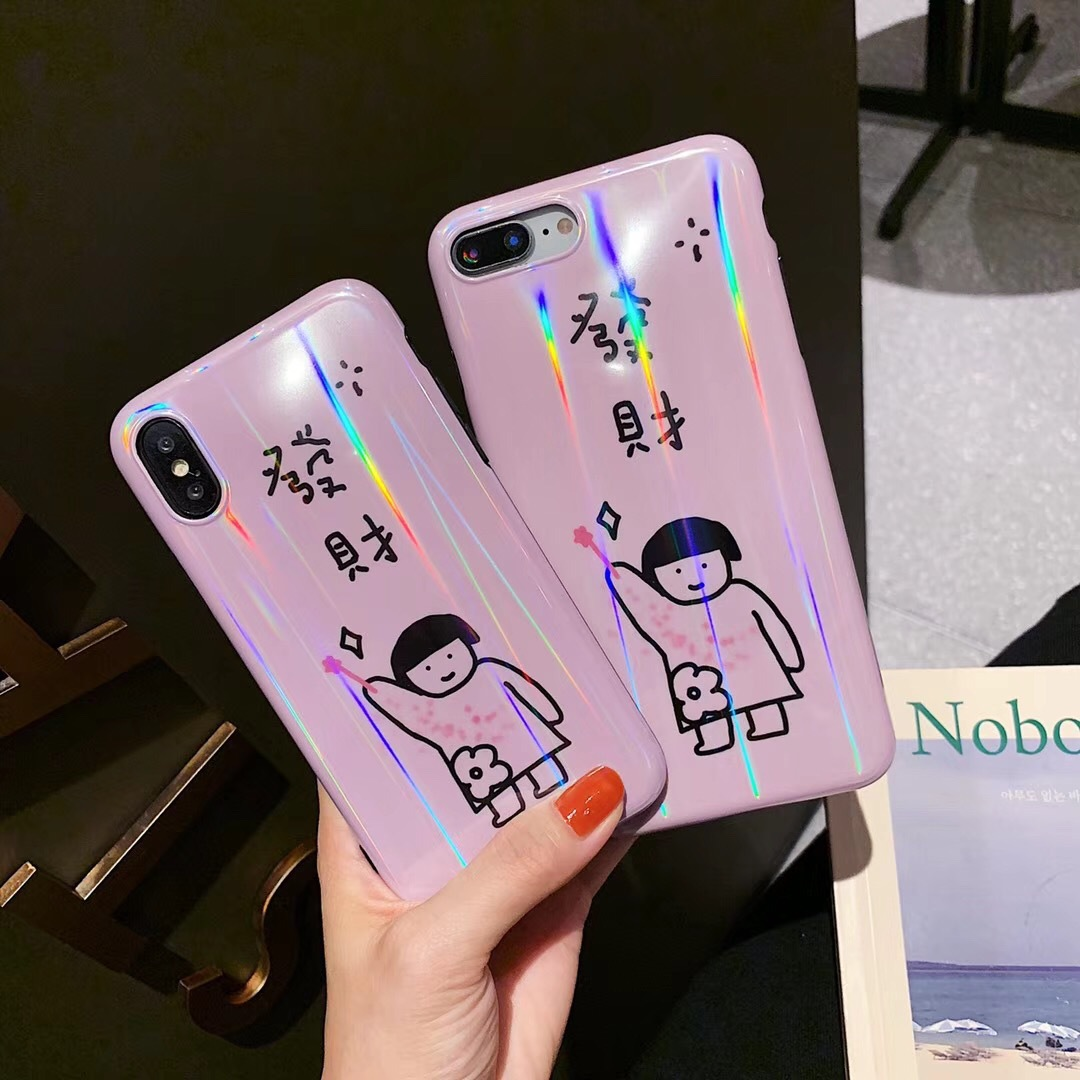 Fortune apple x small cute mobile phone shell couple models iphone8plus/76s soft shell all-inclusive personality men and women models