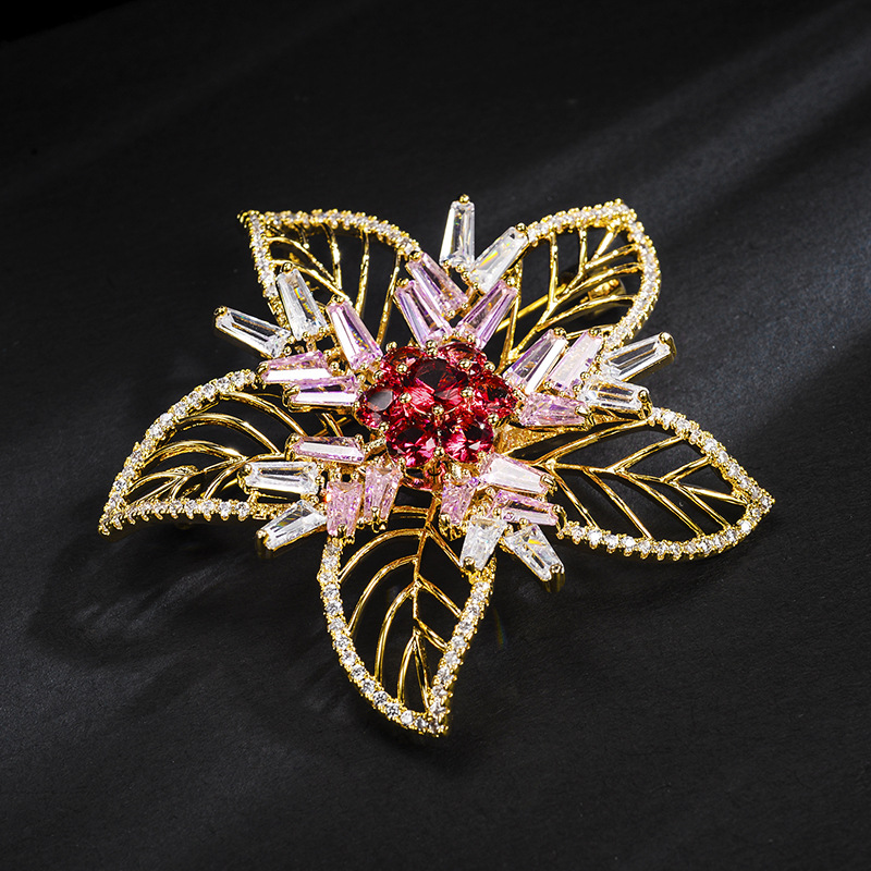Alloy Korea Flowers brooch  (Photo Color) NHLJ4176-Photo-Color
