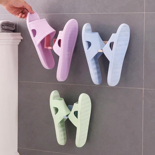 创意壁挂式鞋架墙上拖鞋架子 家用简易粘贴式鞋子收纳架