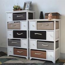 工厂直销 抽屉式木制多层组合收纳柜 实木田园客厅卧室收纳储物柜
