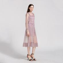2019春款时尚女款套装两件套粉紫色半裙小衫上衣个性休闲套裙女士
