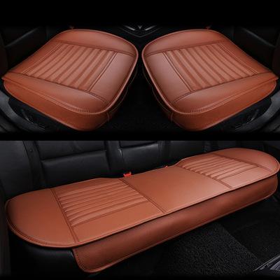 跨境专供竹炭全皮小三件套汽车坐垫 四季3无靠背座垫全包内饰用品