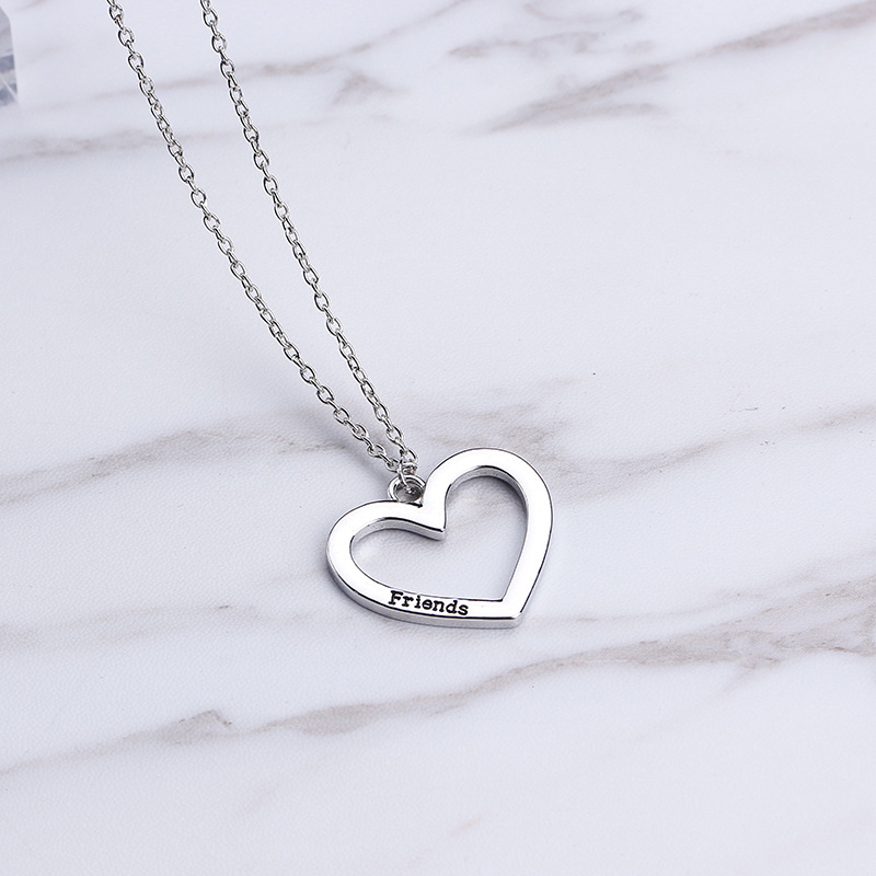 New fashion love three petal necklace Best Forever Friends necklace wholesale NHMO207957