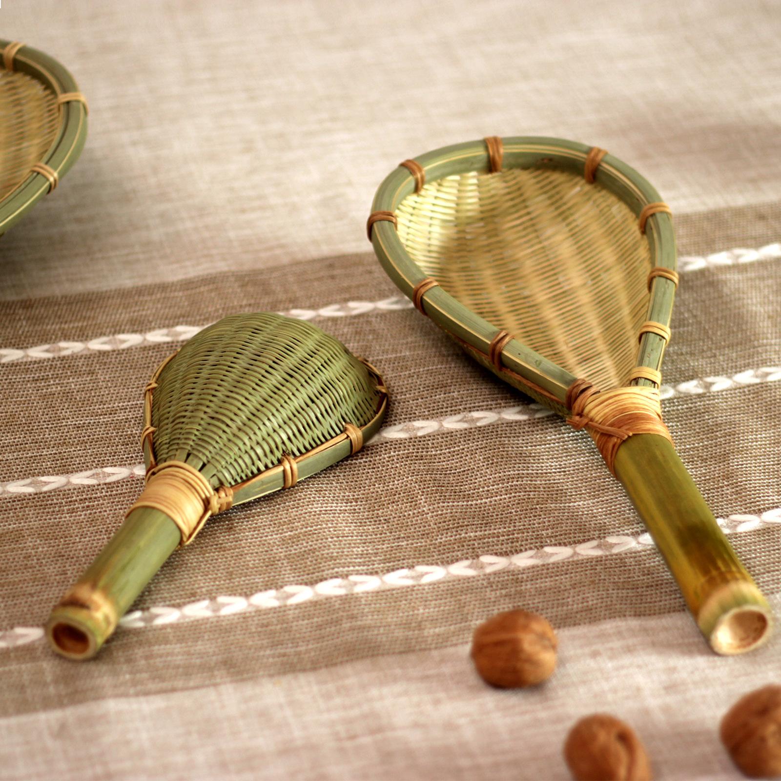 竹制品竹编漏勺 捞面条捞勺麻辣烫滤竹网勺 网漏捞漏过滤勺油炸