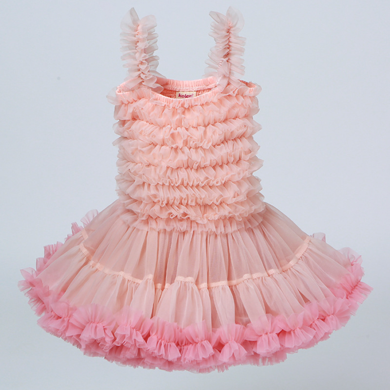 歐美童裝吊帶公主裙生日禮物tutu連衣裙女童公主裙蓬蓬兒童連衣裙