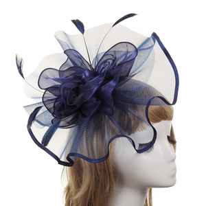 Party hats Fedoras hats for women Women hat season western style banquet feather top grade headdress party hat customization