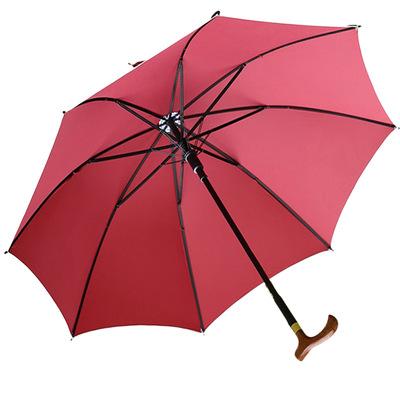 专业生产雨伞umbrella厂家定制太阳伞长柄自动功能防滑老人拐杖伞