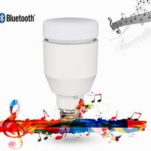 智能音箱LED球泡灯手机无线七彩控制l蓝牙低音炮音乐球泡灯