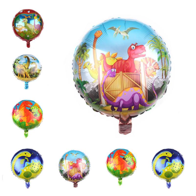 18寸圆形霸王龙世界铝膜气球 卡通玩具铝箔飘空气球批发