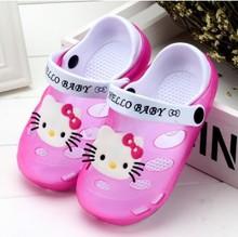 夏季儿童凉拖鞋女夏洞洞鞋带后跟防滑可爱软底小童宝宝凉拖鞋男潮