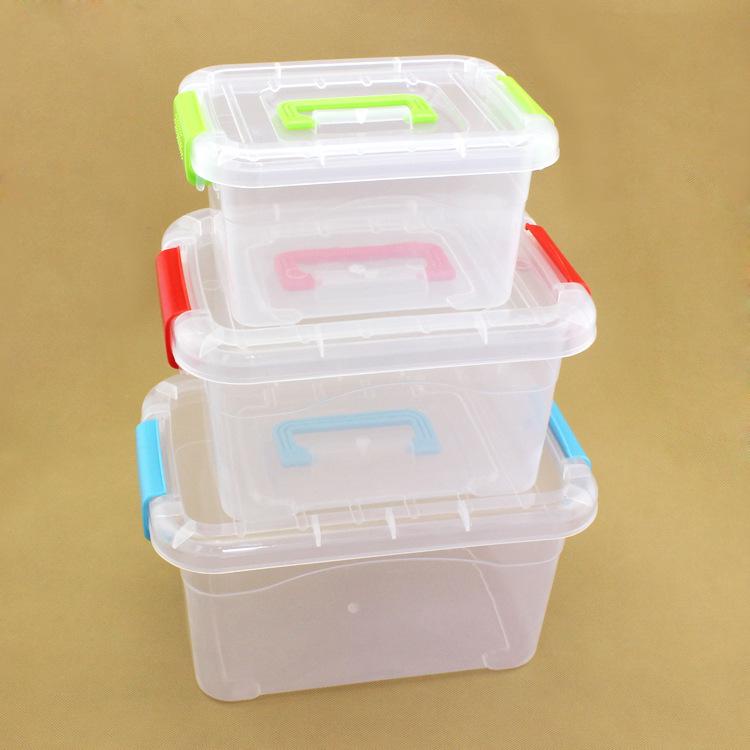 加厚pp透明塑料儿童拼插类益智玩具收纳箱超市零食套装收纳盒