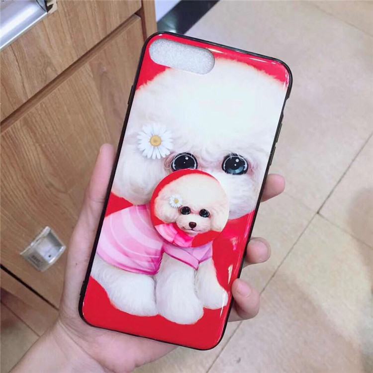 Puppy iPhone8p Apple XS X soft shell tide y75 y85 R17 R15 a5 Korean style cute pink blue