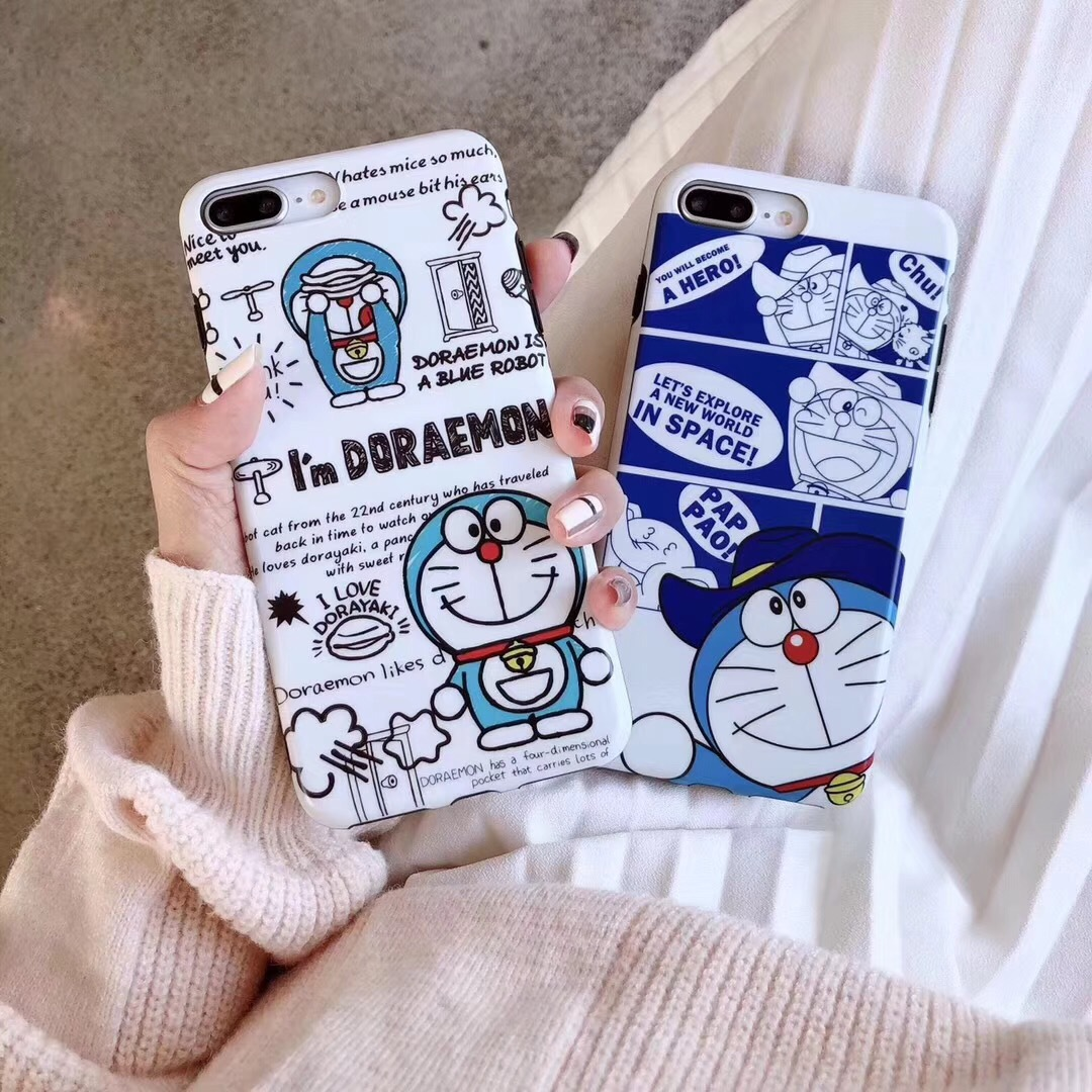 Cartoon robot cat for Apple mobile phone shell iPhoneXS Max anti-fall 8/7 protective cover Daxiong 哆 A dream