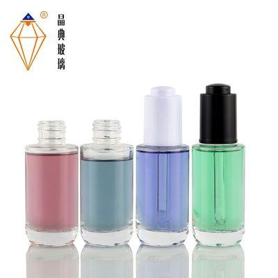 40ml圆形滴管瓶 透明按压滴管瓶玻璃 精华液分装瓶 护肤瓶包装