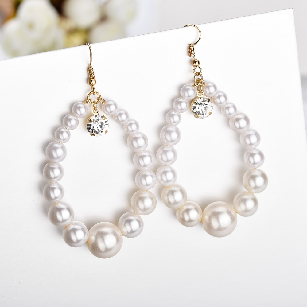 Beads Fashion Geometric earring  (white) NHBQ1662-white
