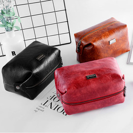 Retro cosmetic bag Korea mini square bag female carry-on travel clutch bag portable storage bag small cosmetic bag