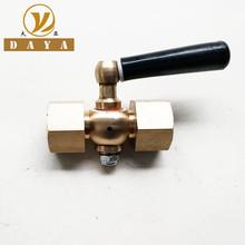 锅炉配件铜二通旋塞阀定做考克 定做黄铜二通旋塞F1/2-F1/2交货准