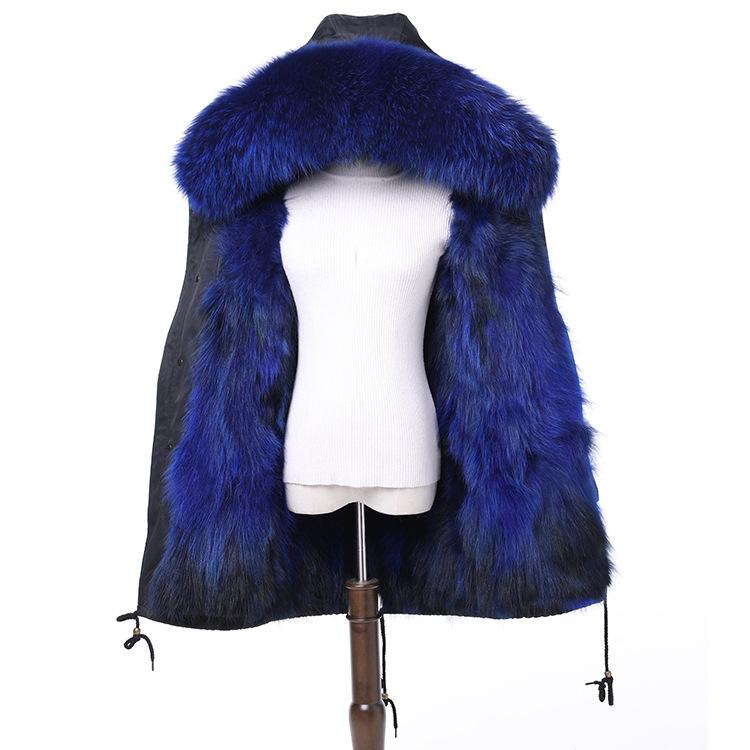 星星款派克服周冬雨同款皮草外套貉子毛狐狸毛内胆派克服派克大衣