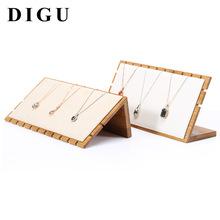 狄古新款竹木时尚首饰项链展示架实木吊坠架托珠宝饰品陈列道具