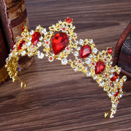 H1125 Europe and the United States popular hot new Baroque multicolor rhinestone bridal crown headband wedding alloy accessories