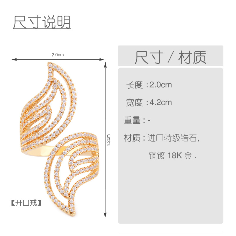Copper Fashion Geometric Ring  (Alloy)  Fine Jewelry NHAS0022-Alloy