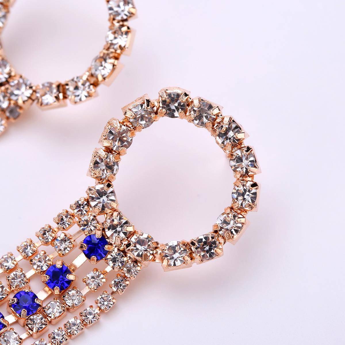 Alloy Fashion Geometric earring  (Alloy Blue) NHJE1483-Alloy-Blue