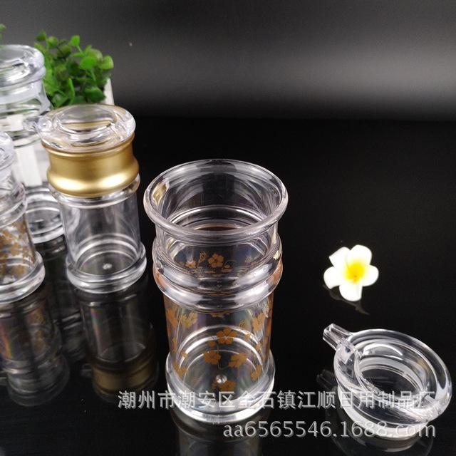 Nó chai trong suốt acrylic kháng sốt chai gia vị nhựa đậu nành và chai dấm nhà máy trực tiếp thả dày pc acrylic Gia vị