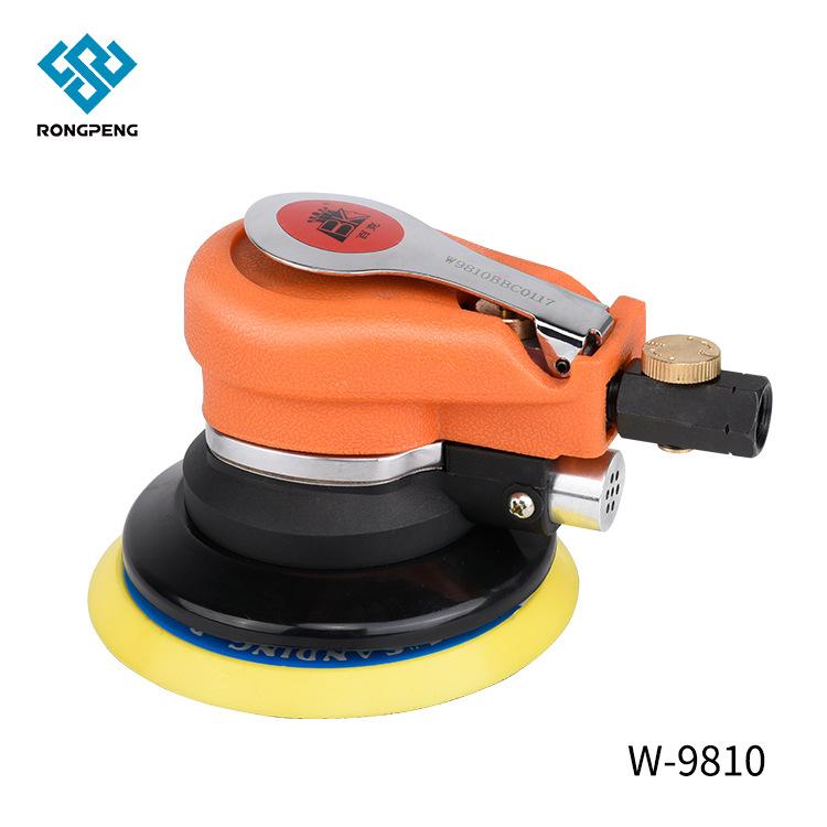 厂家直销荣鹏气动打磨机 木工5寸偏心打磨机平面砂纸气动打磨机