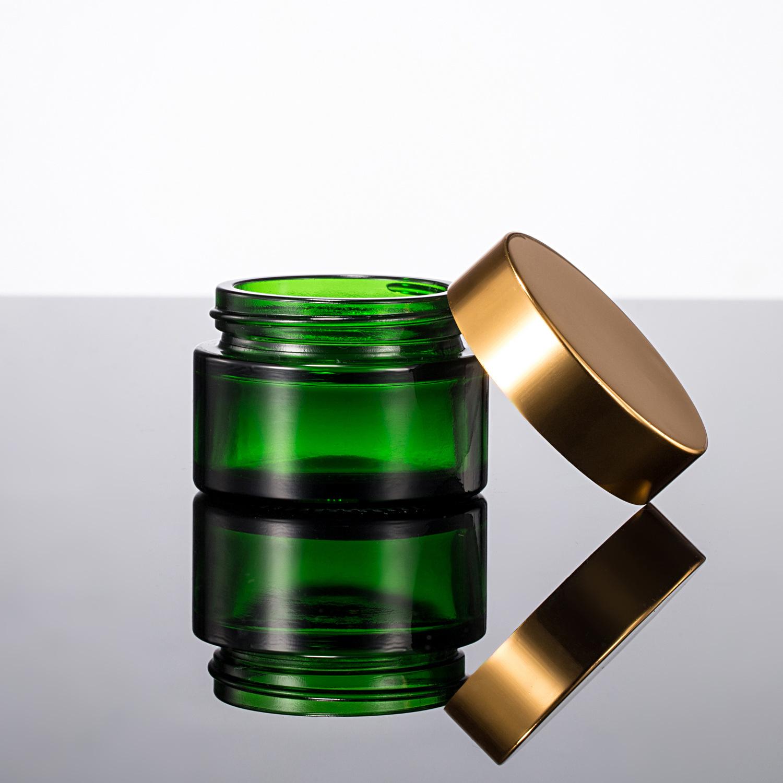 现货茶色绿色透明玻璃瓶 眼霜瓶膏霜瓶 各类规格密封玻璃瓶 批发