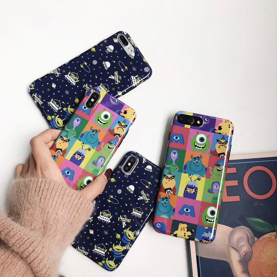 Cartoon three-eyed weiwei for iPhoneX/XR/XS Max mobile phone shell creative soft shell apple 8 protective sleeve