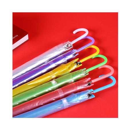 Thẳng ô trong suốt ô tự động ô dài các nhà sản xuất ô màu tùy chỉnh biểu tượng buôn Ô dù nóng