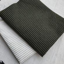 厂家现货直销经典墨绿色条纹沙发布 棉纱混纺布料抱枕坐垫桌椅布