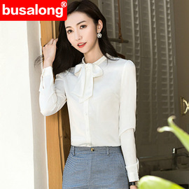 Spring, summer, autumn and winter long-sleeved white shirt ladies professional self-cultivation work clothes large size officially installed ol 6122