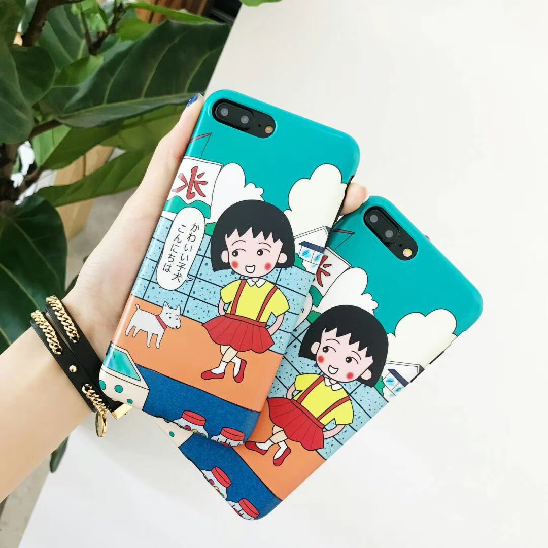 Cherry pellets apple x mobile phone shell cute cartoon iPhone7plus/8/6s ultra-thin soft shell girl models