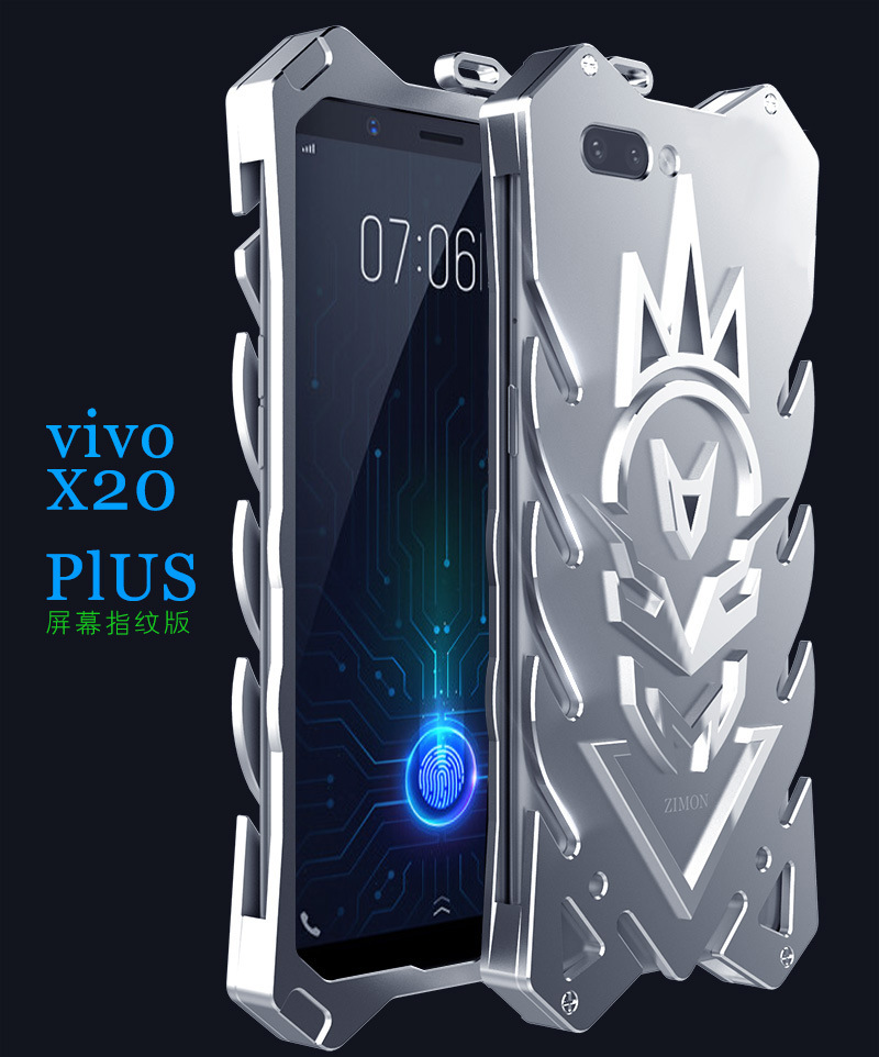 SIMON New THOR II Aviation Aluminum Alloy Shockproof Armor Metal Case Cover for vivo Y20 Plus UD