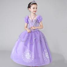 苏菲亚公主连衣裙 女童六一万圣节 生日 节日表演礼服裙一件代发