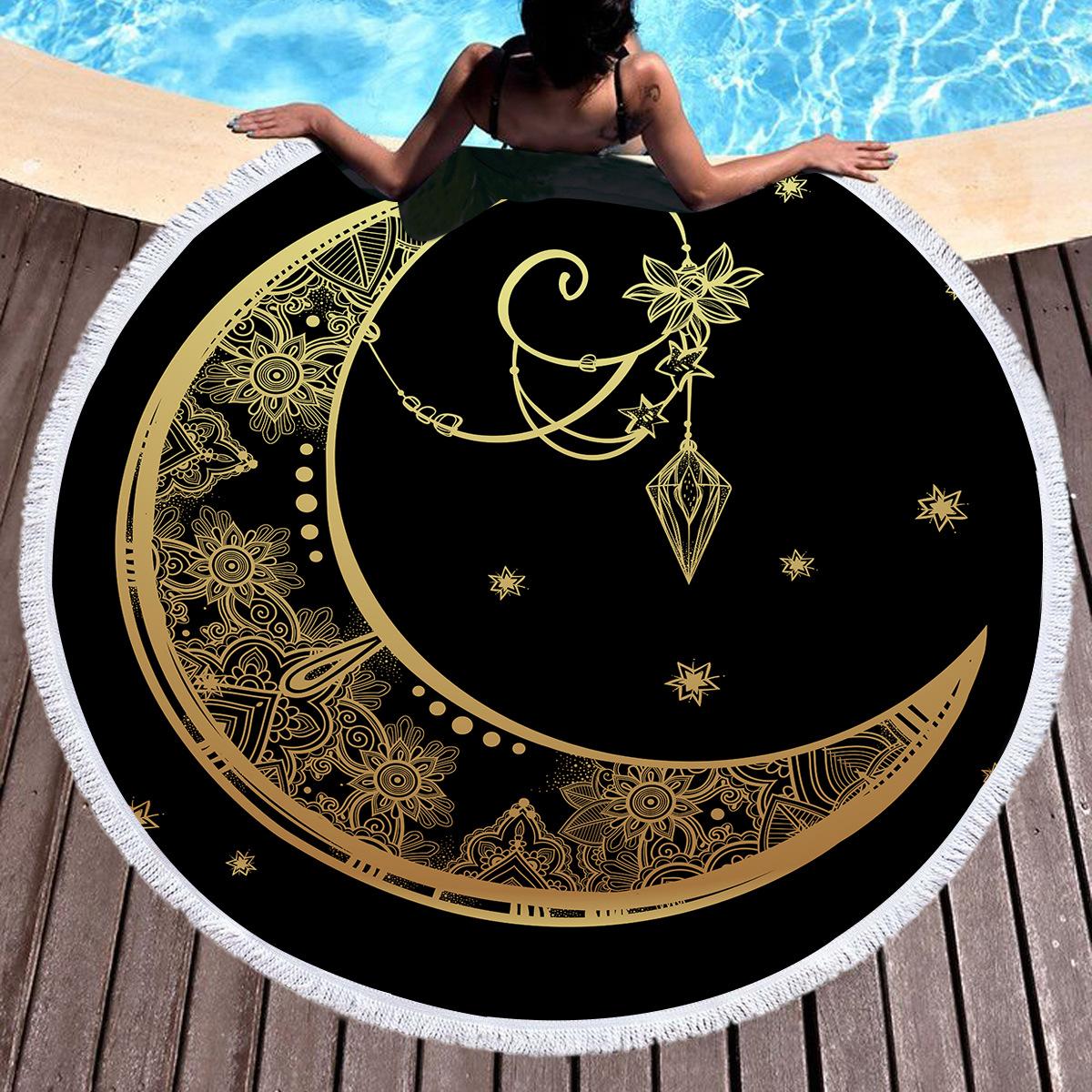 烫金月亮挂坠