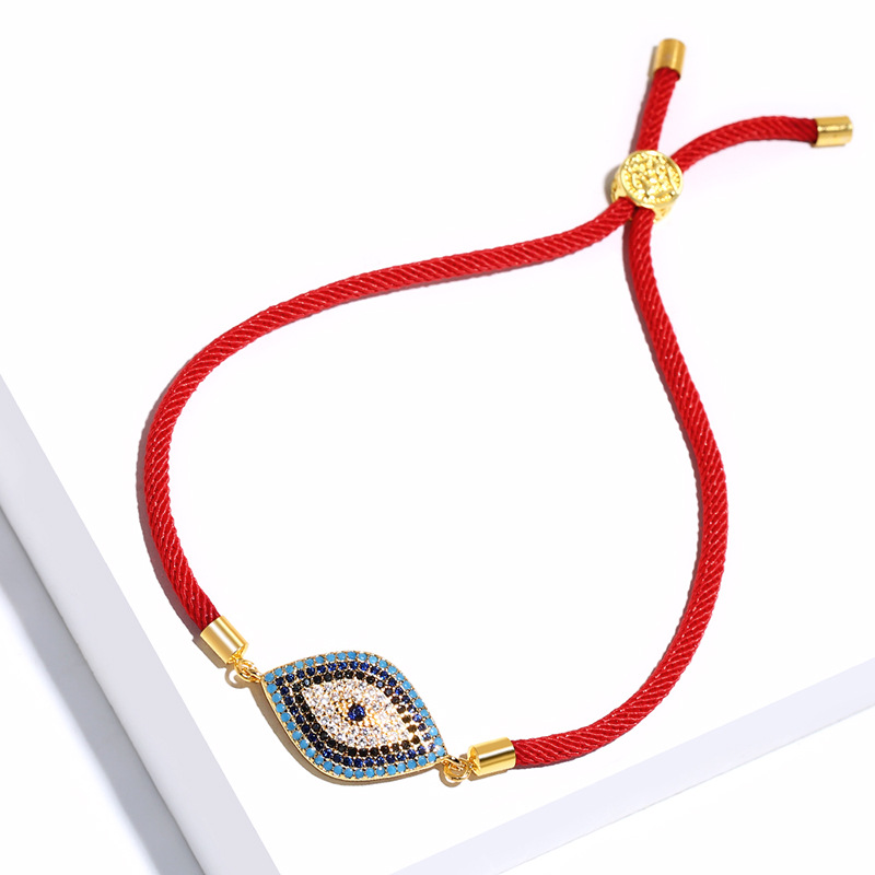 Copper Korea Geometric bracelet  (Red rope alloy)  Fine Jewelry NHAS0366-Red-rope-alloy