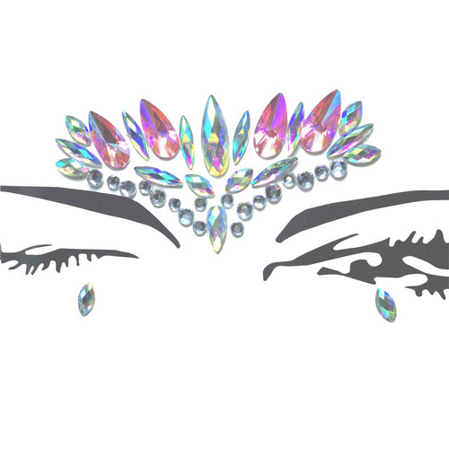 Masquerade stage performance diamond  face sticker Make up make-up dance face decoration jewelry face stick crystal face stick Tattoo Sticker