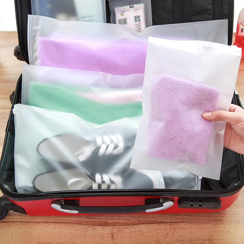 1992  旅行收纳袋 行李衣服整理袋 半透明袋子 加厚防水塑料袋